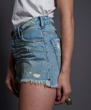 ONETEASPOON Kansas Blue High Waisted Bonita Denim Shorts