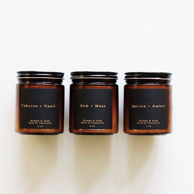 BRAND & IRON Amber Series Candle