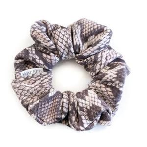 KASH & CO Suede Snake Scrunchie