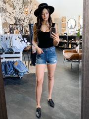 LEVI'S 501 High Rise Shorts Silver Lake