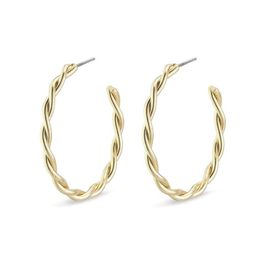 PILGRIM Medium Naja Hoop Earrings