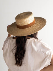 GIGI PIP Capri Medium Straw Boater Hat