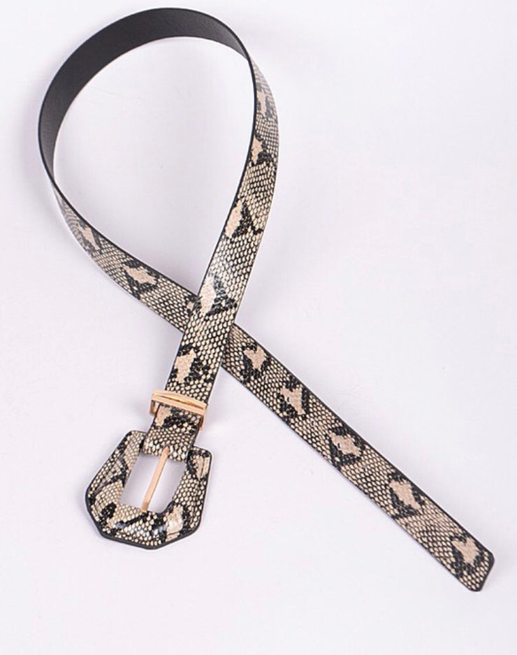TWENTYSEVEN the label Snakeskin Belt