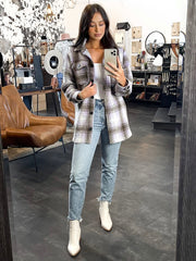 ONLY Daphne Plaid Shacket