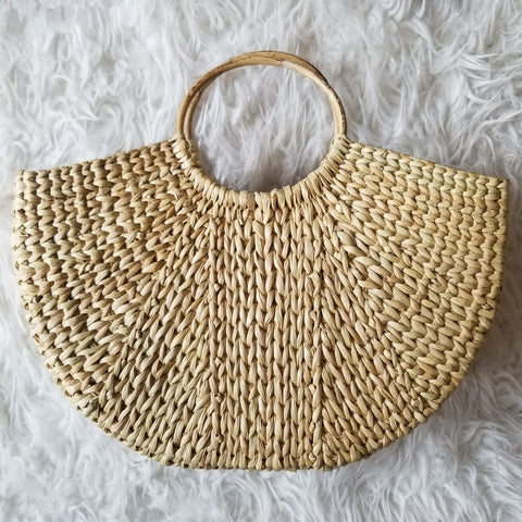 ONLY Kenna Straw Beach Shopper