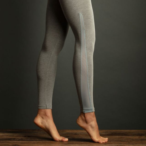 LEMON LOUNGEWEAR Two Tone Mesh Insert Legging