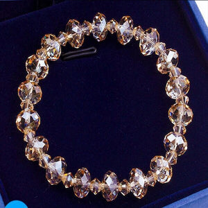 Luxury Exquisite Aurora Square Geometric Polygon Bead Crystals Bracelet Women Females Tennis Bracelet Charm Jewelry Accessory