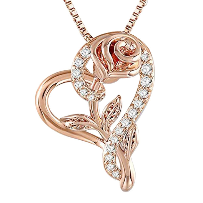 HAWCOAR necklace women stainless steel necklace long chain women jewelry luxury rose gold pendant necklace valentines day gift