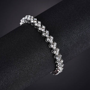 MissCyCy Fashion Heart Crystal Bracelets for Women Luxurious Rose Gold Color Bracelets & Bangles Bridal Wedding Jewelry Gift