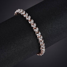 Load image into Gallery viewer, MissCyCy Fashion Heart Crystal Bracelets for Women Luxurious Rose Gold Color Bracelets & Bangles Bridal Wedding Jewelry Gift