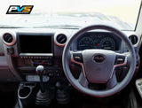Basic Grey Leather Steering Wheel suit Toyota LandCruiser 70