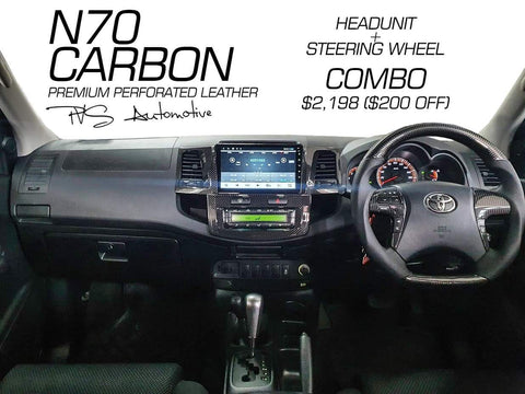 Carbon 9 inch Multimedia Headunit to suit Toyota Hilux N70 2005-2014