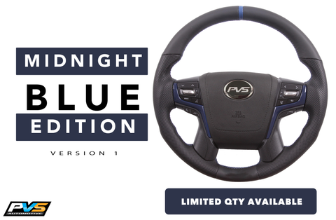 Midnight Blue Edition Leather Steering Wheel suit Toyota LandCruiser 70 200