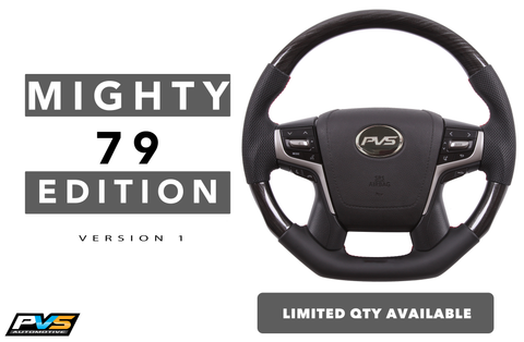 Mighty 79 Edition Leather Steering Wheel suit Toyota LandCruiser 70 200