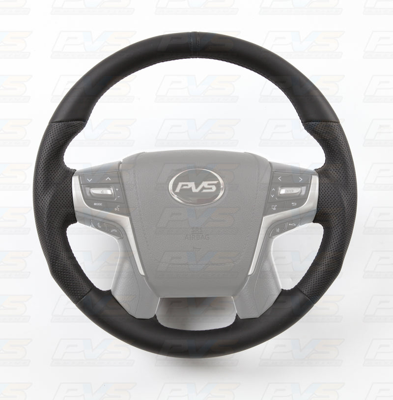 Sports Black Leather with Perforated Sides Steering Wheel suit Toyota LandCruiser 70 200