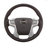 Sports Black Alcantara with Red Stitching Steering Wheel suit Toyota LandCruiser 70 200