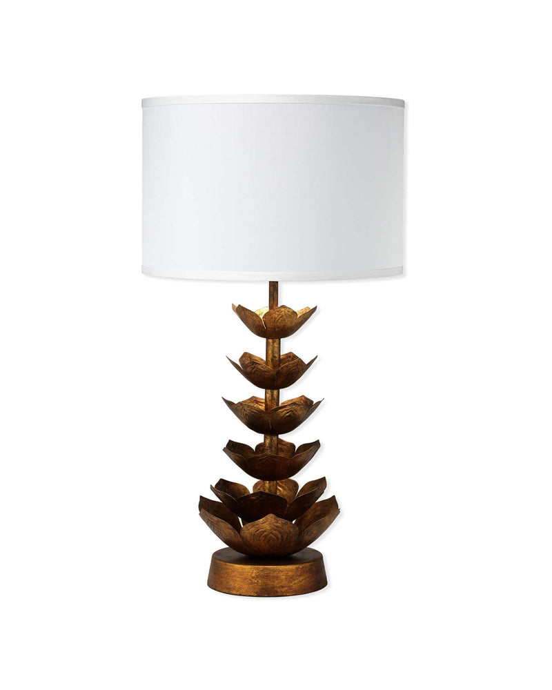 flowering lotus table lamp
