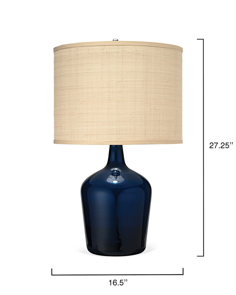 medium plum jar lamp