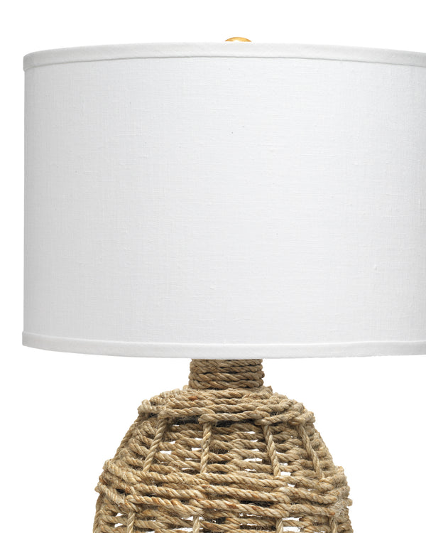 Small Jute Urn Table Lamp