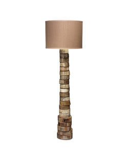 stacked horn floor lamp