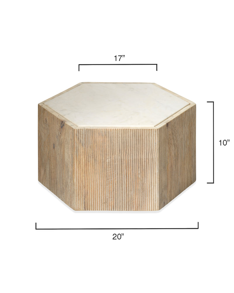 argan hexagon table