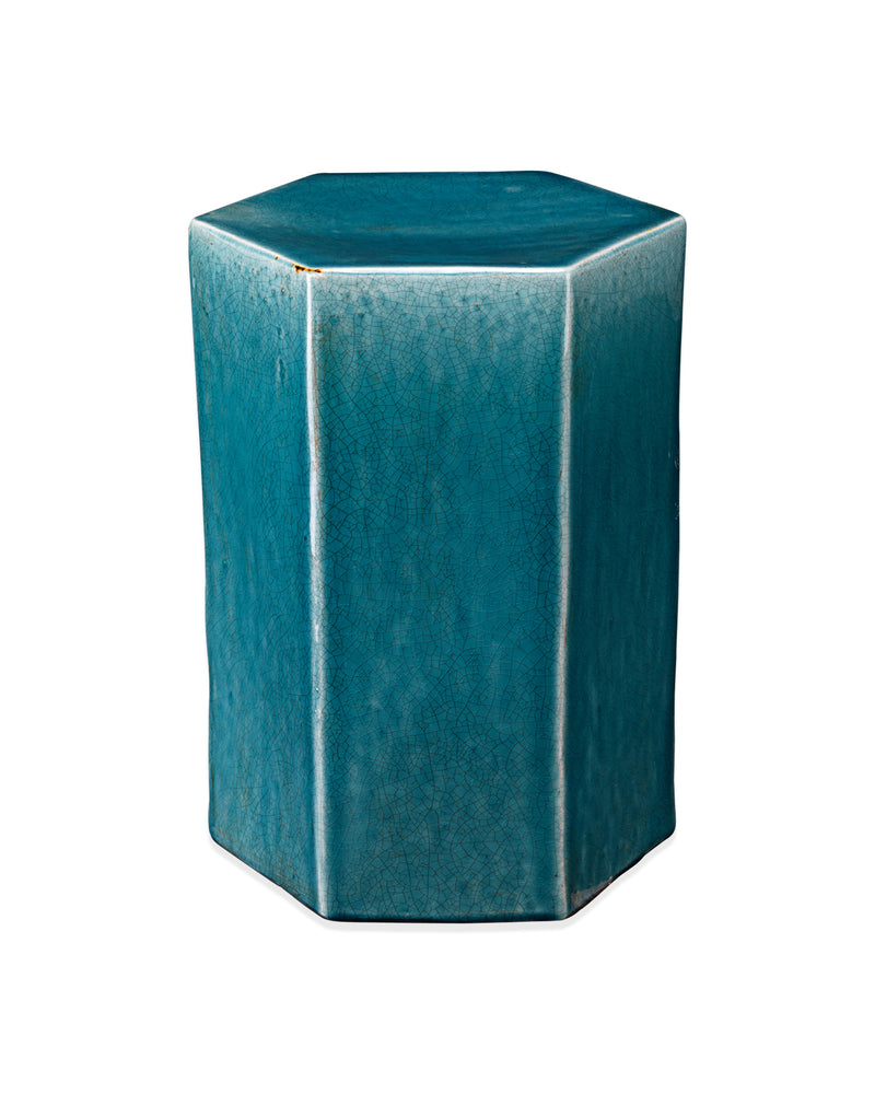 small, blue | porto side table front