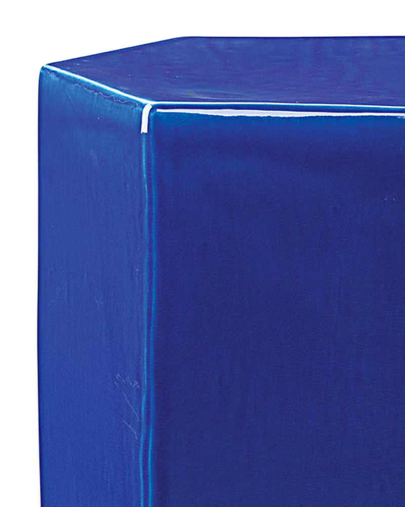 small, cobalt blue | porto side table detail