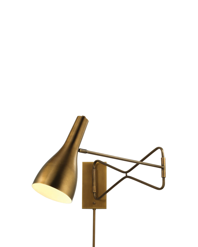 lenz swing arm sconce