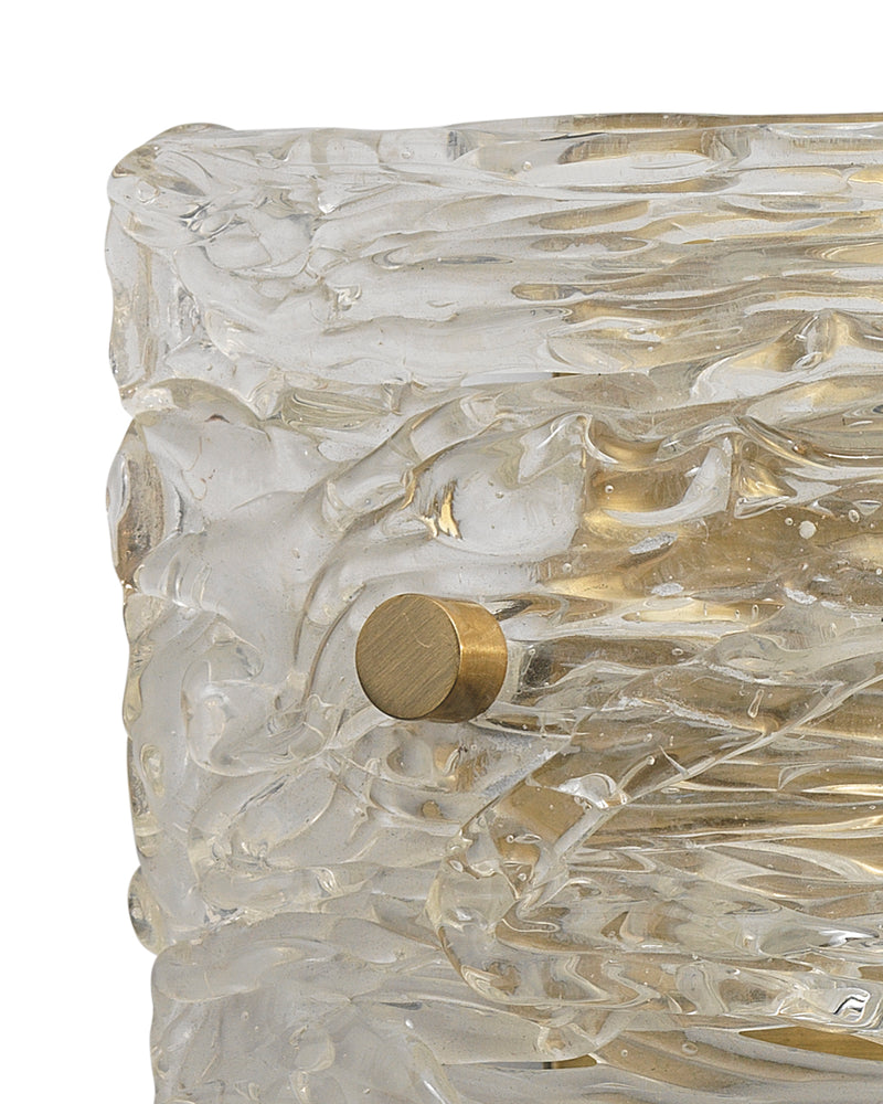 swan curved glass sconce