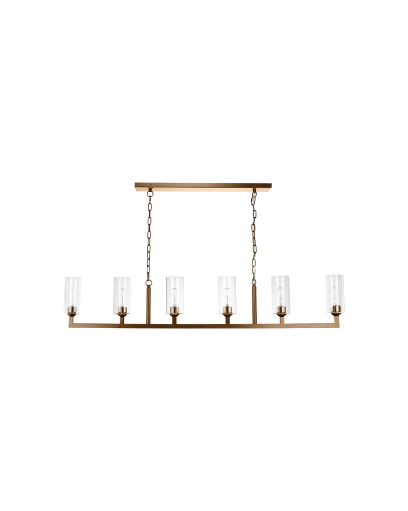 linear 6 light chandelier