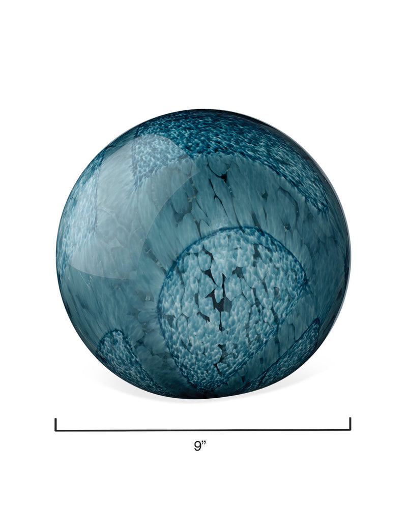 indigo cosmos glass spheres (set of two)