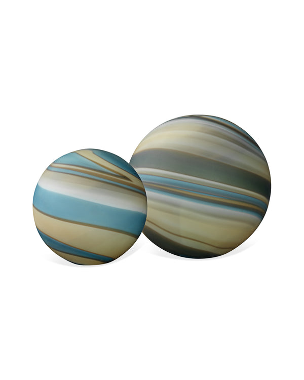 Terrene Cosmos Glass Spheres (set of two)