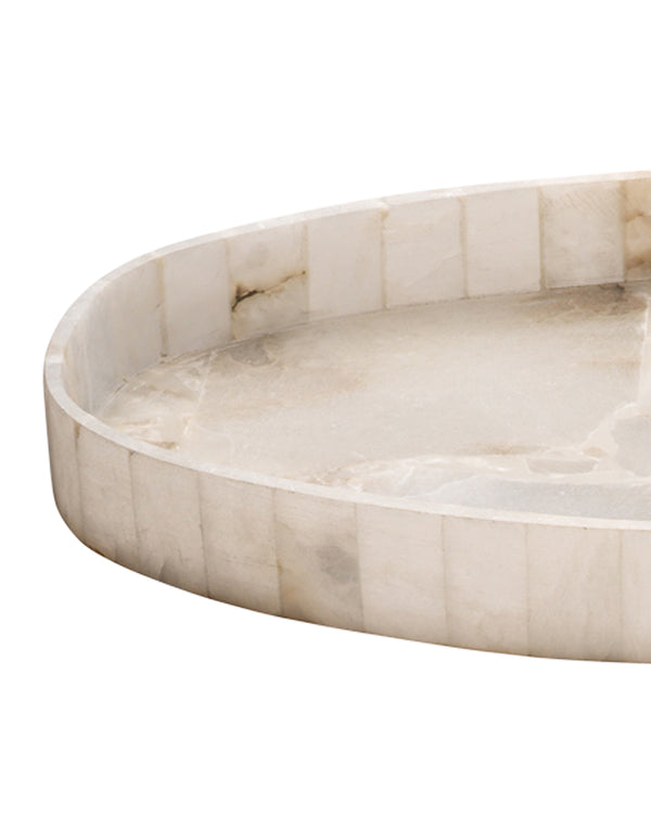 Genevieve Oval Alabaster Tray