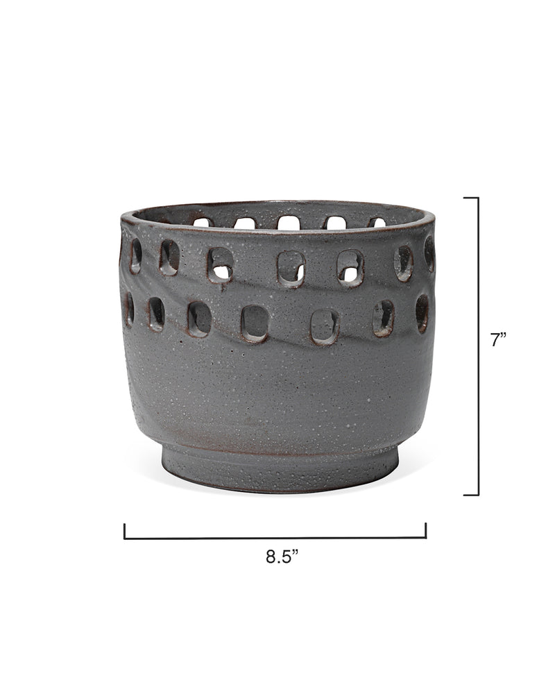 large perforated pot
