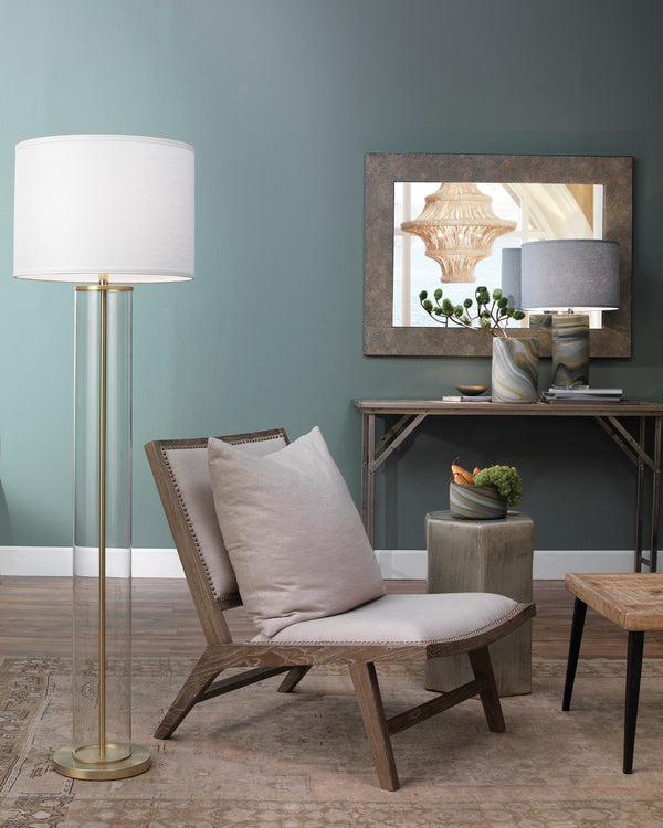 Grey Eggshell Rectangle Mirror
