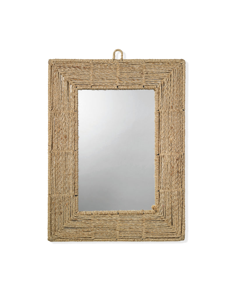 rectangle jute mirror