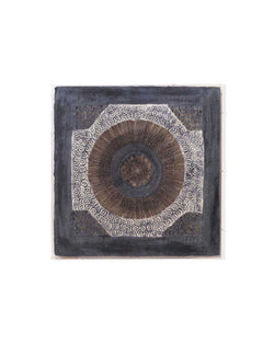 batik square framed wall art