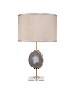 agate slice table lamp