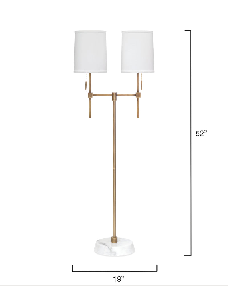 minerva twin shade floor lamp