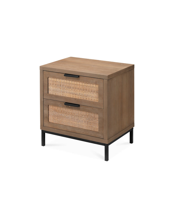 Reed 2 Drawer Side Table