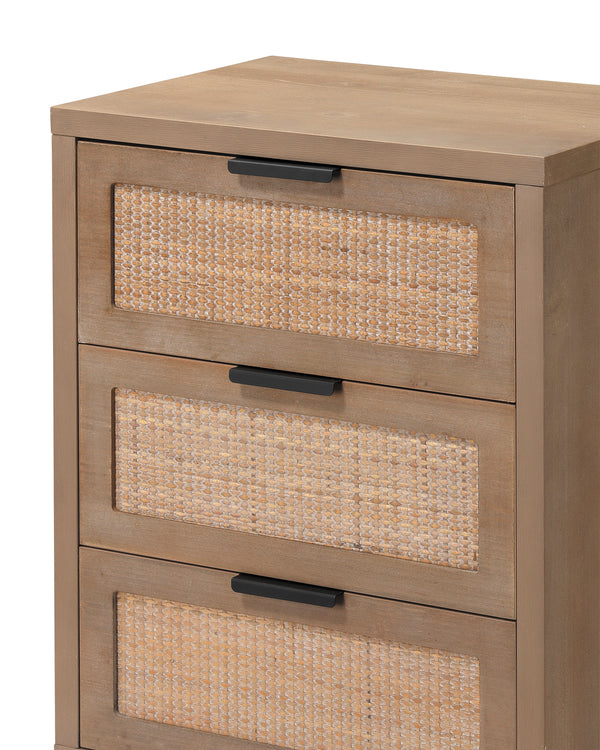 Reed 3 Drawer Side Table