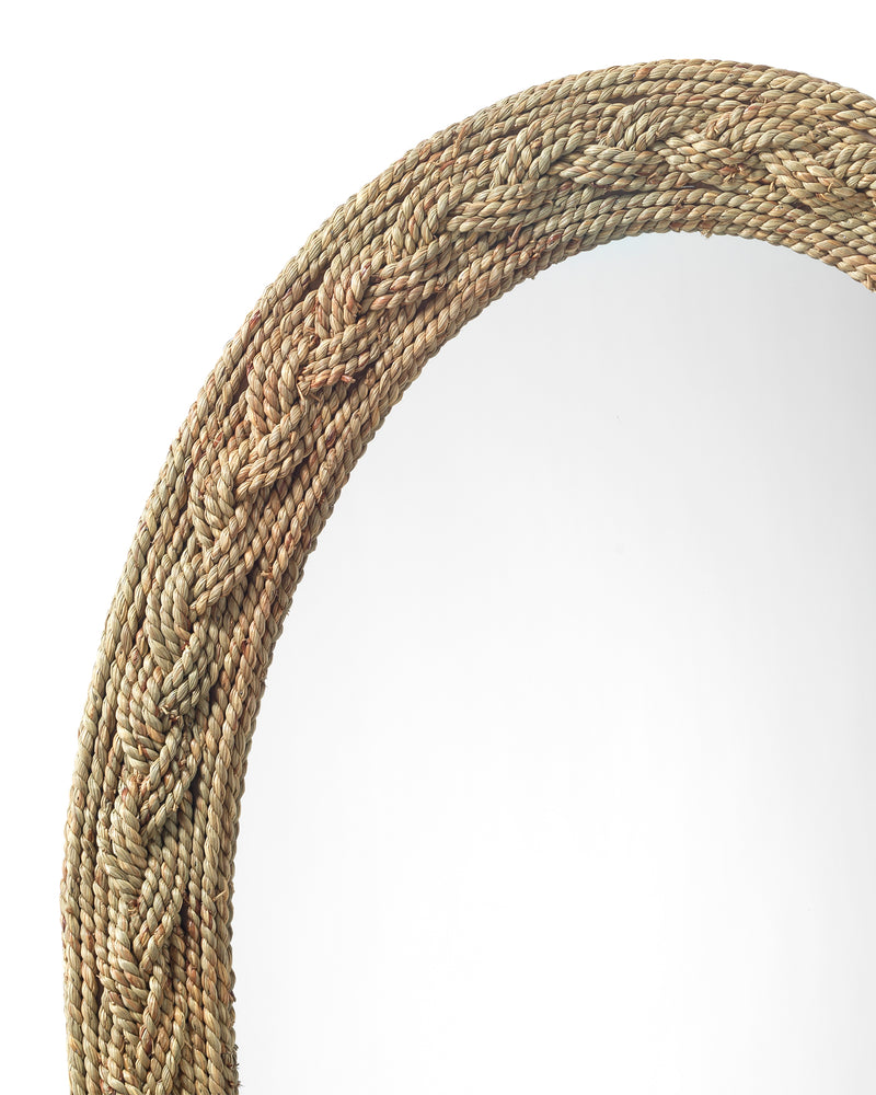 lark braided oval mirror