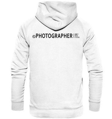 Don't make a scene Photographer Hoodie Weiss - Basic Unisex Hoodie