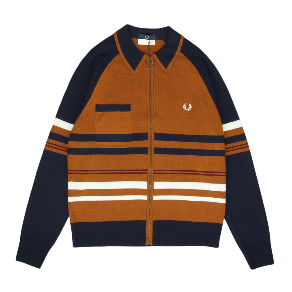 FRED PERRY x NICHOLAS DALEY KNITTED ZIP THROUGH SHIRT