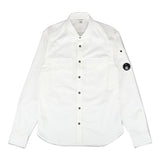 C.P. COMPANY GARMENT DYED EMERIZED LENS SHIRT
