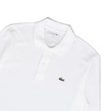 LACOSTE RIPPED COLLAR LONGSLEEVE POLO