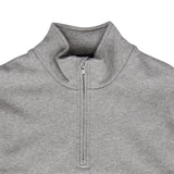 FRED PERRY EMBROIDERED PANEL HALF ZIP SWEATSHIRT
