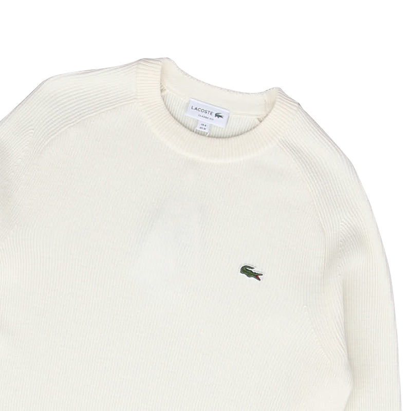 LACOSTE RIBBED WOOL BLEND SWEATER