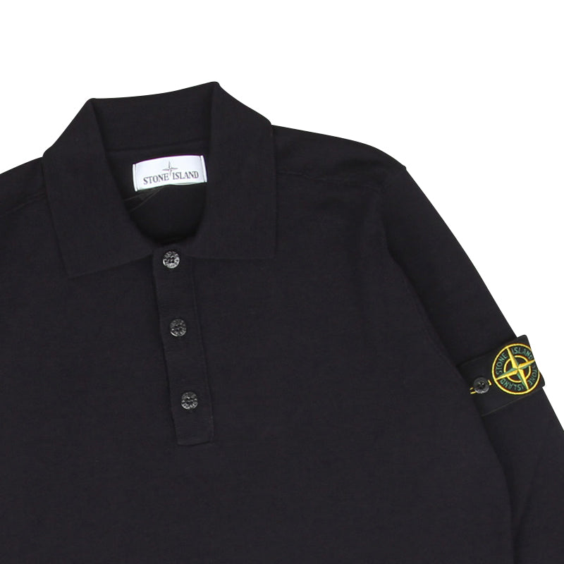 STONE ISLAND STRETCH WOOL KNIT POLO