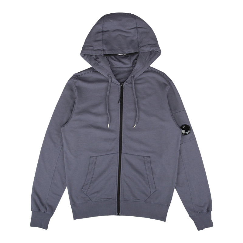 C.P. COMPANY LIGHT FLEECE FULL-ZIP HOODIE